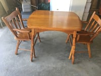 Solid Maple ChildsTable W/2 Chairs  Canton, 44721