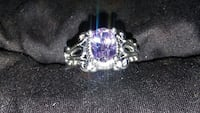 amethyst stud sterling silver ring Albuquerque, 87105