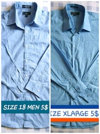 SIZE LARGE & XLARGE SHIRTS MEN BOTH 7$ OR 4$ EACH Ottawa, K1G 3P6