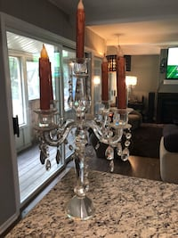 Candelabra with fake candles that use batteries, gorgeous Algonquin, 60102