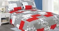 white, red, and black bed comforter Montréal, H1G 6L9
