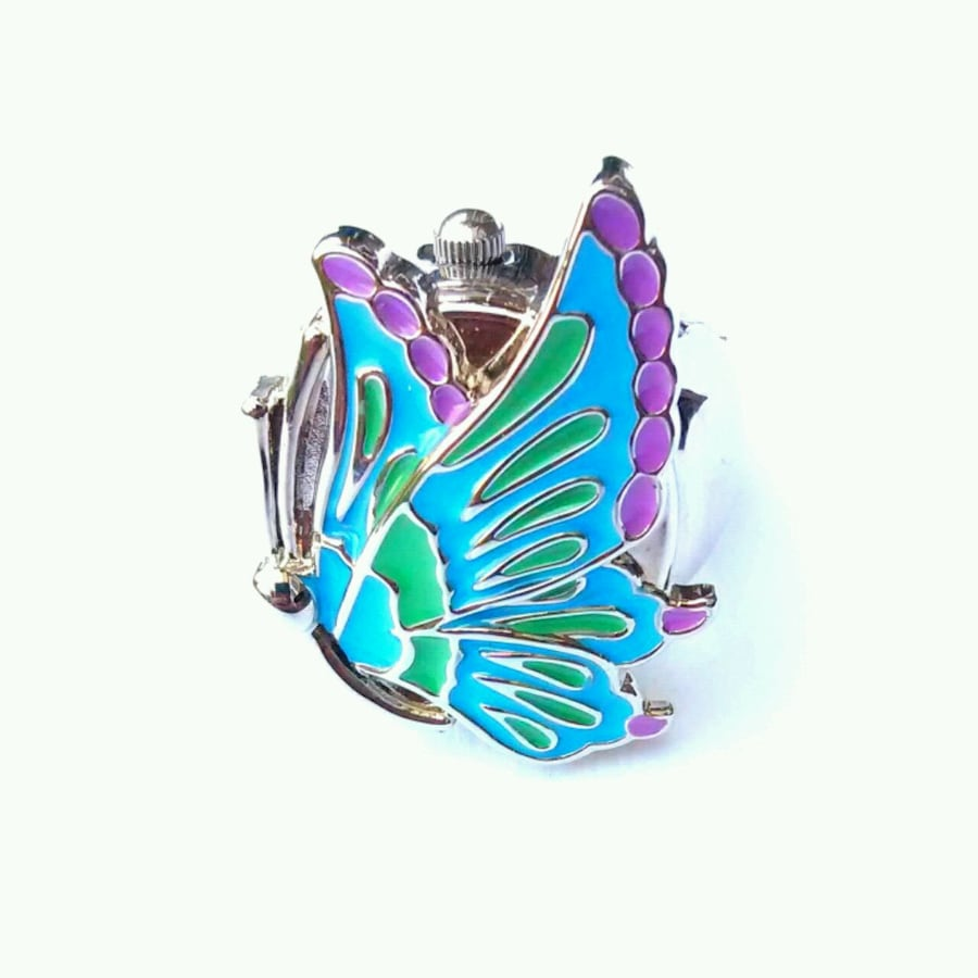 Pretty Butterfly Ring Watch.  Brand new, never worn.