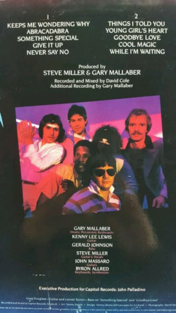 "The Steve Miller Band ""Abracadabra"" vinyl album 1"