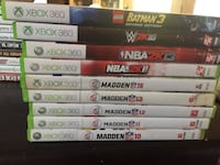 Assorted xbox 360 game cases Youngstown, 44512