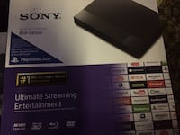 New in sealed box Sony Blu ray DVD player Selden, 11784