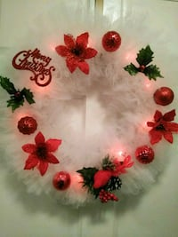 white, red, and green Christmas wreaths Rockville, 20850