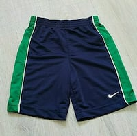 Nike jersey shorts, blue and green, size 5