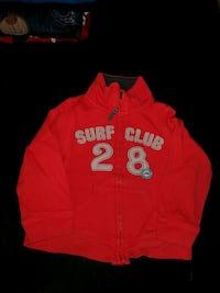 red and black Hollister pullover hoodie Calgary, T3K 4G2