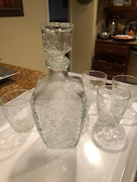 Vintage scotch decanter and 6 glasses Los Angeles, 90046