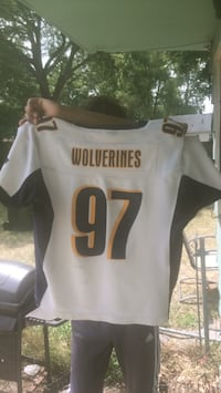 white and black and white NFL jersey Muskegon, 49442