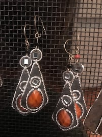 brasilian earrings assorted colors $4 each pair yellow orange brown