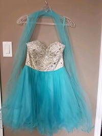 women's white and blue strapless dress size 0 Vaughan, L6A 3R1
