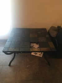 square brown and black tile-top coffee table Killeen, 76549
