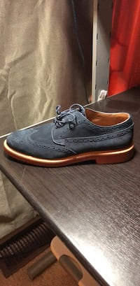 JCrew Mens Blue Suede Wingtip Oxfords Washington, 20001