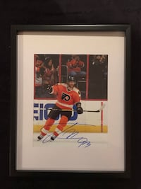 jakub voracek Signed and framed photo