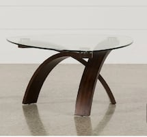 Glass coffee table - excellent condition. Asking $200 OBO