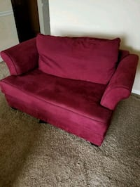 red suede sofa chair with throw pillow Brentwood, 37027
