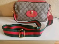 gray and red Coach monogram shoulder bag Pembroke Pines
