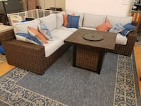 New Outdoor patio furniture sectional with fire pit  Hayward