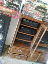 Stereo system with sub woofers and surround sound