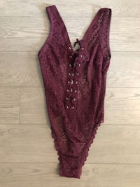 Victoria's Secret Purple Lace Bodysuit Small