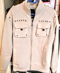 men's used  M South Pole beige jacket, no stains or rips . located o Las Vegas, 89108