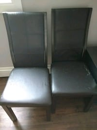 Scratched leather chairs, 5$ for both! Chatham-Kent, N7L 4P6