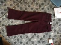 Pantalon velours bordeaux 36