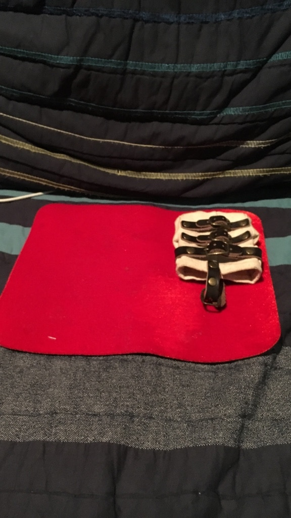 Red card Mat and straight jacket carrying case (extremely rare)