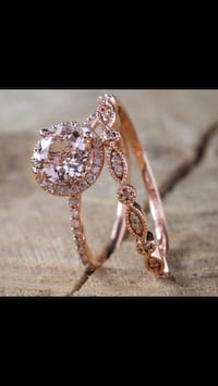 2carat Morganite and Diamond rings. Size 7 Los Angeles, 90731