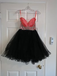 Pink and black formal short dress Alexandria, 22315