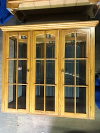 2 piece china cabinet with lights
