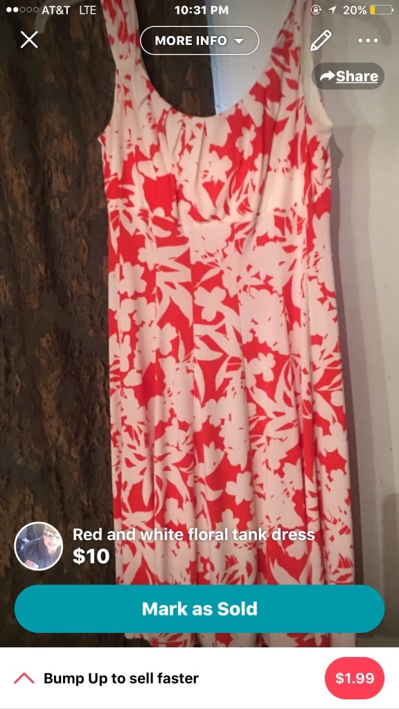 women's red and white floral tank dress