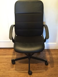 Black leather office rolling armchair Oakland, 94610