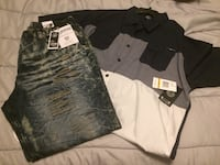 Enyce jeans and shirt sz 46 and 4xl  Kansas City, 64134