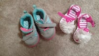 toddler's two pairs of assorted color shoes and sandals Lucinda, 16235