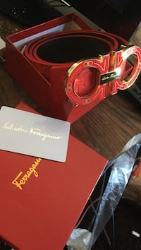Ferragamo Belt (Red and Gold Edition)