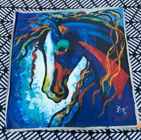 Unstretched Horse Painting