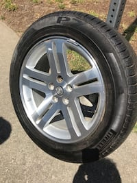 gray 5-spoke vehicle wheel with tire Los Angeles, 90045