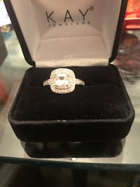 New Sterling silver ring with diamond accent