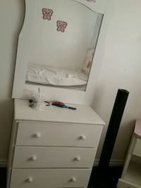 white wooden dresser with mirror Calgary, T2A 1A5