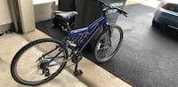 Blue and black full suspension mountain bike 17 frame Chantilly, 20152