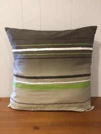 Double sided throw pillow with button detail Lincoln, L0R