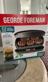George Foreman Grill 5 servings. Brand new in box. Never opened