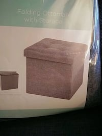 Folding dark gray ottoman with storage Toronto, M5J