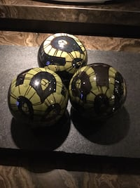 4 Glass decorative balls