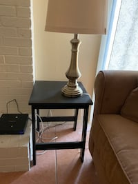 Black table and 2 black end tables Pflugerville