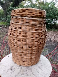 Large Wicker Basket With Lid
