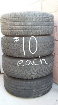 17 inch truck and SUV tires. $10 each. Phoenix, 85051