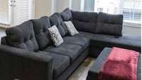 Black Sectional and Storage Ottoman Oakville, L6L 0Y6